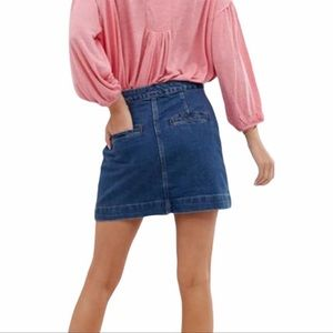 We The Free Jean Denim Skirt Don't Get Me Wrong